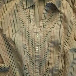 East 5th Tops - East 5th Striped Tuxedo Shirt Sz 4